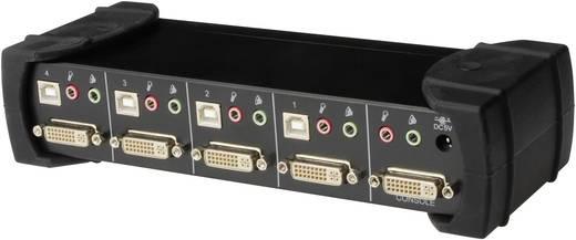 4 portos elosztó Hub DVI, audio, USB, VGA elosztó USB2.0 Digitus