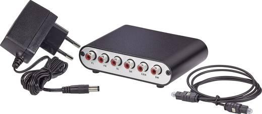 Audio dekóder, digitális/analóg, 5.1-es berendezésekhez, SpeaKa Professional