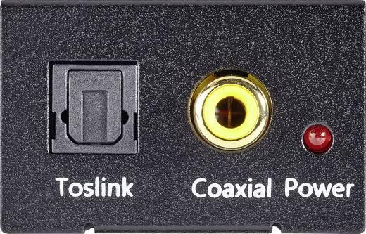 D/A konverter, digitális analóg átalakító 1koax, vagy optikai Toslink, SPDIF bemenetről 2 x RCA kimenetre Speaka 989149