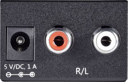 A/D konverter, analóg/digitális audio átalakító 2 x RCA/1 x Toslink, SPDIF, vagy koax kimenetre Speaka Professional