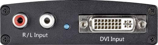 DVI/HDMI konverter, átalakító audio csatlakozással, SpeaKa Professional