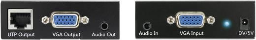 VGA + audio hosszabbító hálózati kábelen keresztül, 50 m, Loop funkcióval