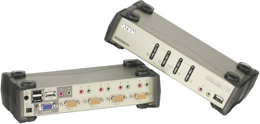 4 portos USB-s KVM switch, (billentyűzet, video, egér) elosztó, PS/2 és VGA elosztó Aten CS1734B-AT-G