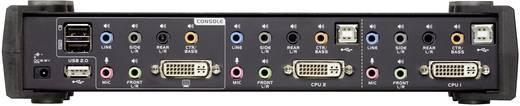2 portos KVM switch, (billentyűzet, video, egér) elosztó, DVI elosztó és USB 2.0 Hub Aten CS1782A-AT-G