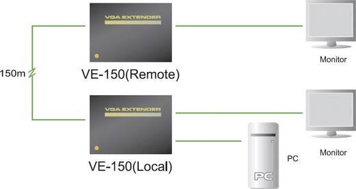 VGA Extender, jeltovábbító RJ45 csatlakozással, max.150 m-ig Aten VE150A