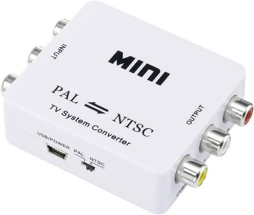 Kétirányú PAL/NTSC konverter, fehér, SpeaKa Professional