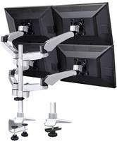 4 részes monitor tartó, asztalra szerelhető, gáznyomásos technikával, C csíptetővel, Xergo Flex (SP-3957076) SpeaKa Professional
