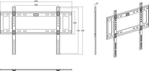 """TV fali tartó konzol, fix, VESA szabvány 81 - 152 cm-ig (32"""" - 60"""") 45 kg-ig, SpeaKa Professional 989272"""