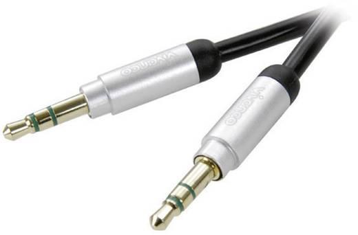 Jack audio kábel [1x jack dugó 3,5 mm - 1x jack dugó 3,5 mm] 1,5 m, fekete, aranyozott Vivanco
