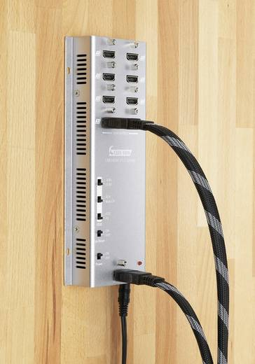8 portos HDMI elosztó, falra szerelhető, Speaka Professional