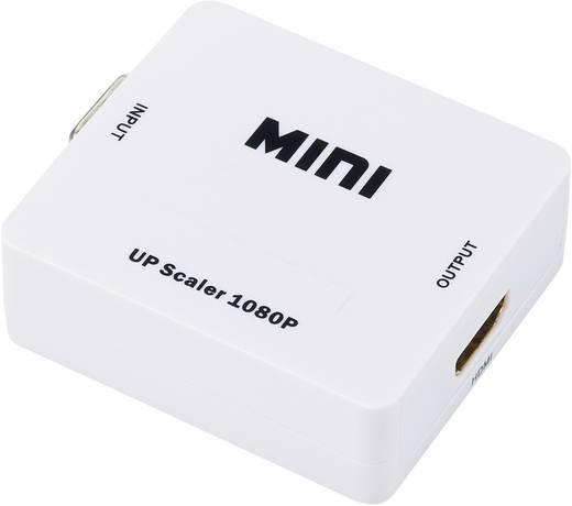 VGA/HDMI konverter, átalakító + audió, felbontás átkapcsolóval, SpeaKa Professional