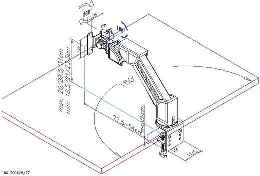 Asztali monitortartó kar, dönthető/forgatható, max. 8 kg, 30,48-56 cm (12 - 22)