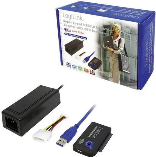 USB átalakító készlet [1x USB 3.0 dugó A - 1x SATA-Kombi-aljzat 7+15pol.] 0,50 m fekete LogiLink