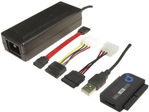 USB átalakító készlet [USB 2.0 dugó A - SATA-dugó 7pol., IDE-aljzat 40pol., IDE-aljzat 44pol.] 1,20m fekete LogiLink