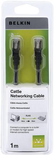 Hálózati kábel, RJ45 CAT 5e F/UTP fekete, 1 m, Belkin