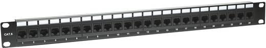Rack szekrénybe építhető 24 portos RJ45 elosztó, CAT6 UTP patch panel, Intellinet 520959 1 HE