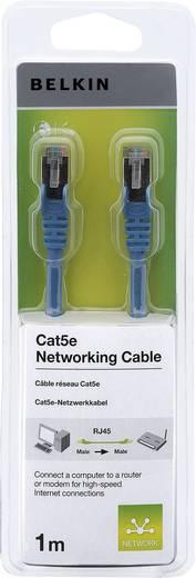 RJ45 hálózati csatlakozókábel, CAT 5e F/UTP [1x RJ45 dugó - 1x RJ45 dugó] kék csatlakozóvédővel, 1 méter, Belkin