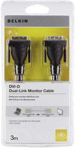 DVI csatlakozókábel [1x DVI dugó 24+1 pólusú 1x DVI dugó 24+1 pólusú] 3 m fekete Belkin