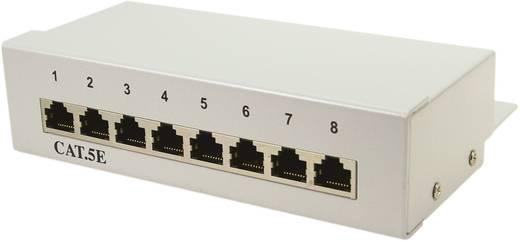 8 portos CAT5e patch panel RAL7035, LogiLink NP0038