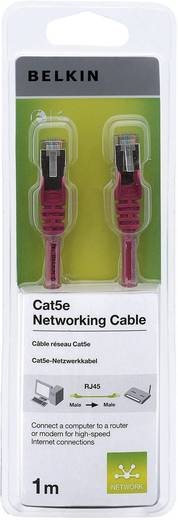 Hálózati kábel, RJ45 CAT 5e F/UTP piros, 1 m, Belkin