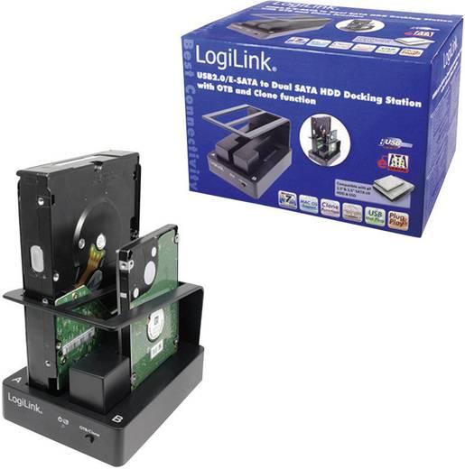 USB 2.0 duál merevlemez dokkoló állomás, LogiLink QP0009
