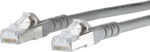 RJ45 Hálózati csatlakozókábel, CAT 6A S/FTP [1x RJ45 dugó - 1x RJ45 dugó] 15 m, szürke BTR Netcom