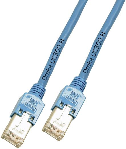 RJ45 Hálózati csatlakozókábel, CAT 5e F/UTP [1x RJ45 dugó - 1x RJ45 dugó] 20 m, kék DRAKA