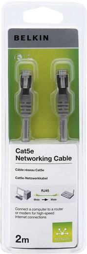 RJ45 hálózati csatlakozókábel, CAT 5e F/UTP [1x RJ45 dugó - 1x RJ45 dugó] szürke csatlakozóvédővel, Belkin