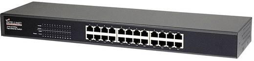 """19"""" Rack szekrénybe építhető 24 portos switch, RJ45 elosztó Intellinet 520416"""