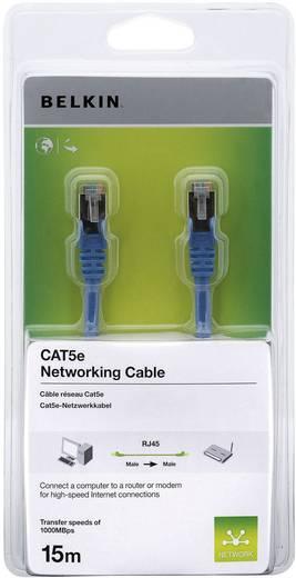 RJ45 hálózati csatlakozókábel, CAT 5e F/UTP [1x RJ45 dugó - 1x RJ45 dugó] kék csatlakozóvédővel, 10 m, Belkin
