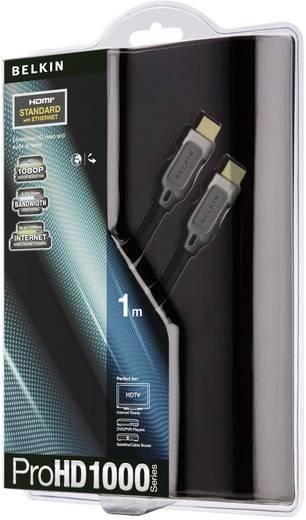 HDMI csatlakozókábel [1x HDMI dugó 1x HDMI dugó] 1 m fekete Belkin AV10000qp1M