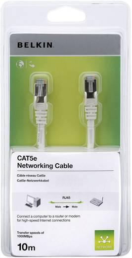 RJ45 hálózati csatlakozókábel, CAT 5e F/UTP fehér csatlakozóvédővel, Belkin A3L791cp10MWHHS