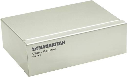 2 portos VGA video splitter, elosztó 1 bemenet - 2 kimenet, ezüst színű Manhattan 177207