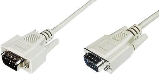 VGA TV, Monitor csatlakozókábel 1x VGA dugó - 1x VGA dugó 5 m Szürke