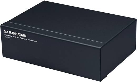 2 portos SVGA video splitter, elosztó 1 bemenet - 2 kimenet, fekete, Manhattan 207331