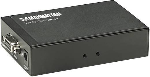 VGA Cat5 / 5e / 6 Extender, jeltovábbító max.300 m 1920 x 1200 pixel Manhattan 177344