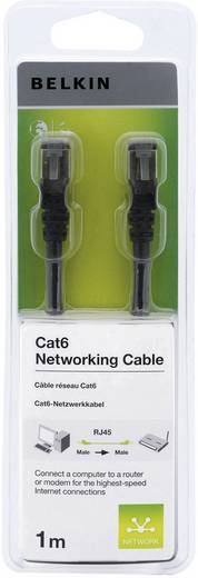 RJ45 Hálózati csatlakozókábel, CAT 6 F/UTP [1x RJ45 dugó - 1x RJ45 dugó] 1 m, fekete Belkin