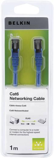 RJ45 Hálózati csatlakozókábel, CAT 6 F/UTP [1x RJ45 dugó - 1x RJ45 dugó] 1 m, kék Belkin