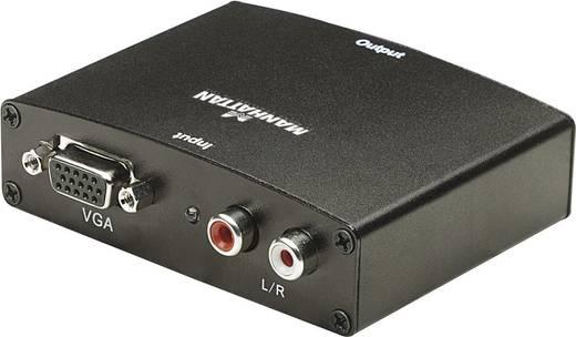VGA HDMI konverter, 2 x RCA alj, VGA alj - HDMI alj, fekete, Manhattan 177351
