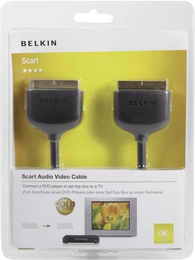 SCART TV, vevő csatlakozókábel [1x SCART dugó 1x SCART dugó] 2 m fekete Belkin