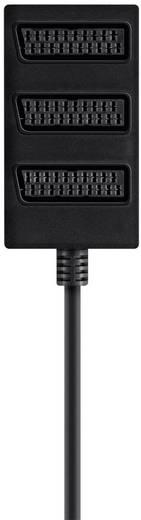 SCART AV elosztó kábel, 1x SCART dugó - 3x SCART aljzat, 0,5 m, fekete, Belkin
