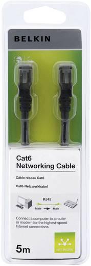 RJ45 Hálózati csatlakozókábel, CAT 6 F/UTP [1x RJ45 dugó - 1x RJ45 dugó] 5 m, fekete Belkin