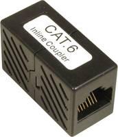 RJ45 Hálózat CAT 6 [1x RJ45 alj - 1x RJ45 alj] 0 m Fekete EFB Elektronik