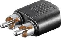 Átalakító, 2 x RCA dugó - 1 x 3,5 mm-es sztereó jack hüvely, Goobay Goobay