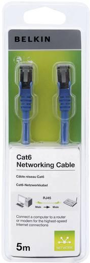 RJ45 Hálózati csatlakozókábel, CAT 6 F/UTP [1x RJ45 dugó - 1x RJ45 dugó] 5 m, kék Belkin