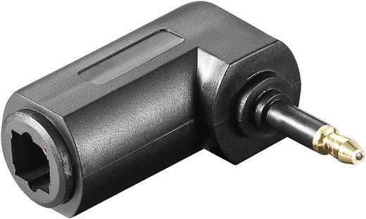 Toslink adapter, Toslink aljzat - 3,5 mm-es optikai dugó, könyök, fekete, Goobay