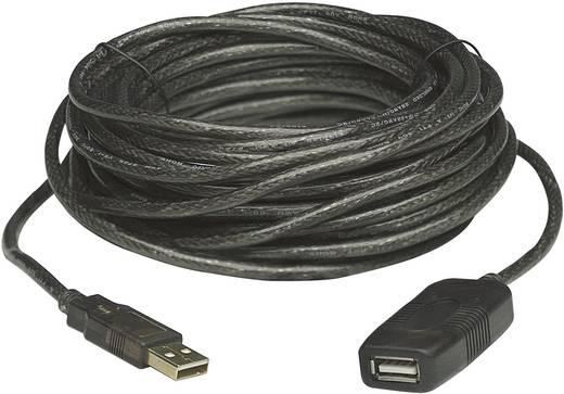 USB 2.0 toldókábel, hosszabbító kábel 10 m, fekete, Manhattan 150248