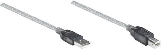 USB 2.0 toldókábel, hosszabbító kábel (1 x USB 2.0 dugó A – 1 x USB 2.0 dugó B) 11 m, átlátszó, Manhattan 510424