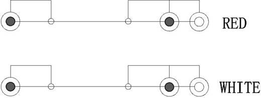 RCA audio kábel, 2x RCA dugó, 2x RCA aljzat - 2x RCA dugó, 1,5 m, fekete, Goobay