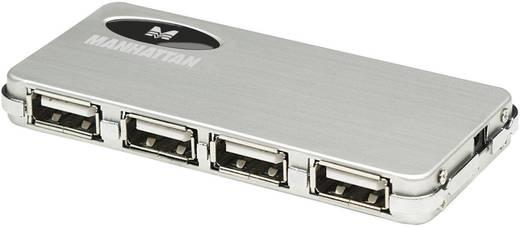 4 portos USB 2.0 hub, ezüst Manhattan 160612